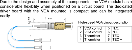 HIGH-SPEED VARIABLE OPTICAL ATTENUATOR
